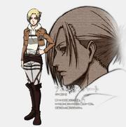 Annie Leonhart modelo de personaje (anime)
