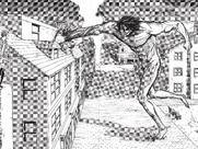 Eren ataca a Mikasa