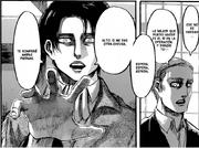 Levi amenaza con romperles las piernas a Erwin