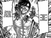 Eren se dirige hacia el titán colosal