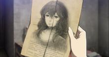 Annie observa el retrato de Carly