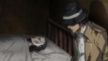 Kenny junto al cadaver de Kuchel