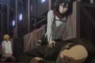 Mikasa inmoviliza a Reeves