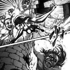 Ymir lucha contra los titanes del castillo Utgard