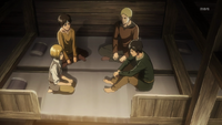 Eren pide ayuda a Berholdt y a Reiner