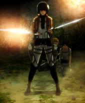 Mikasa protege a eren