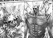 El Titán Colosal quema todo a su paso