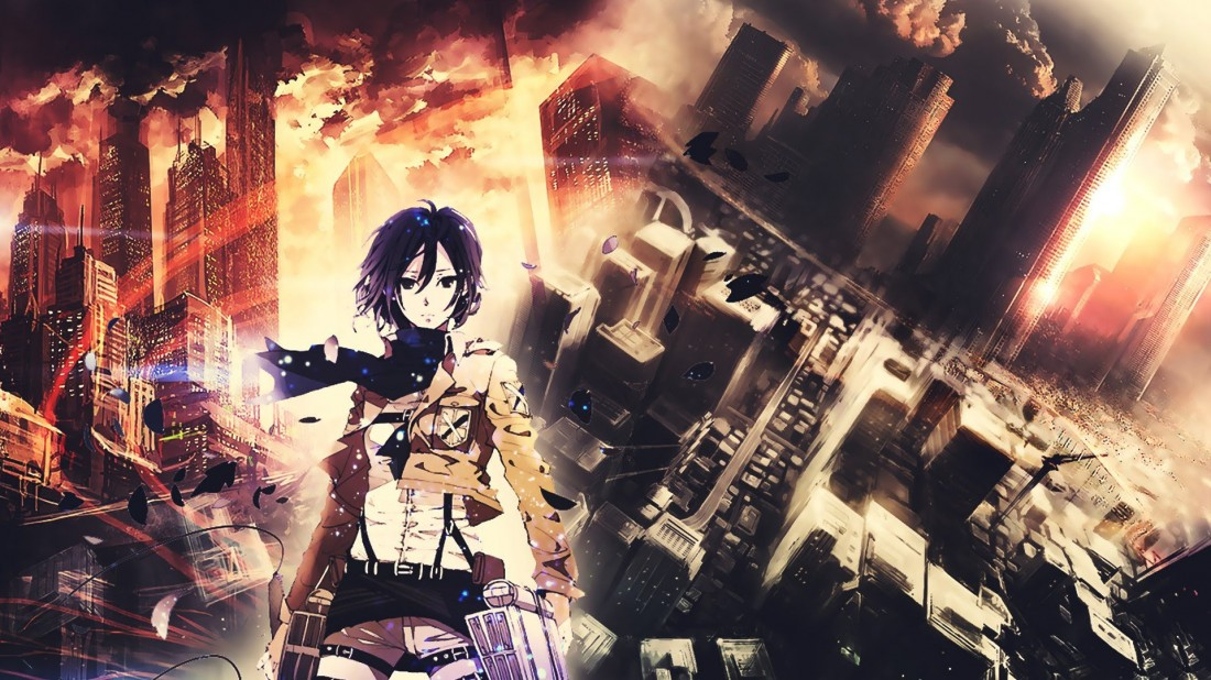Mikasa Ackerman Shingeki No Kyojin HD Wallpaper 1100x618