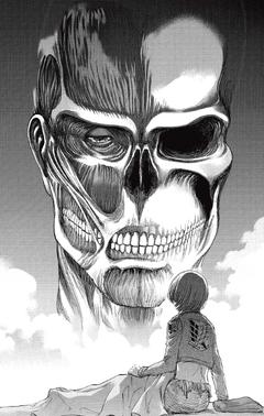 Armin sieht den kolossalen Titan in seinem Traum