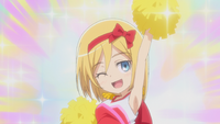 Christa cheers for her team