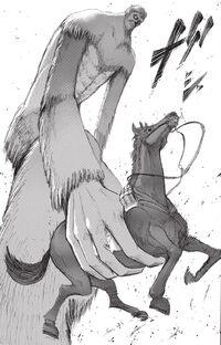 Il Gigante Bestia prende il cavallo