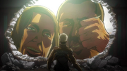 Jean regardant le titan furtif en action