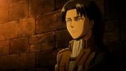 Livai devant la cellule d'Eren