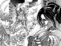 Reiner awakens to fight Eren