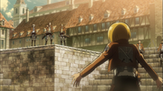 Armin tentant de convaincre les soldats