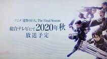 Attack on Titan The Final Season announcement