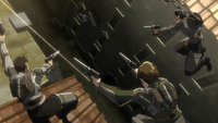 Kenny's squad pursues Levi