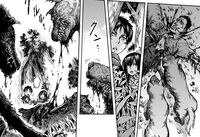 Mikasa and Eren see dogs eat a body