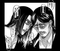 Eren incites Grisha to steal the Founding Titan