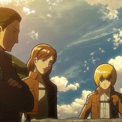 Armin planea la operación para recuperar Trost.