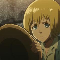 Armin llora por su abuelo.