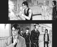 Eren and Zeke watch Grisha steal information