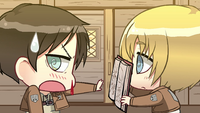 Armin shows Eren the book