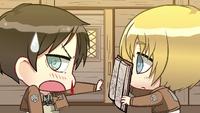 Armin shows Eren the book