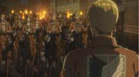 Erwin informiert die Soldaten über ihre Mission