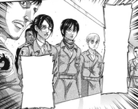 The military receives news of Eren's escape