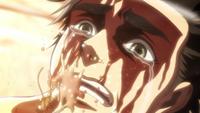 Eren breaks the bottle between his teeth