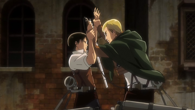 File:Levi and Erwin clash.png