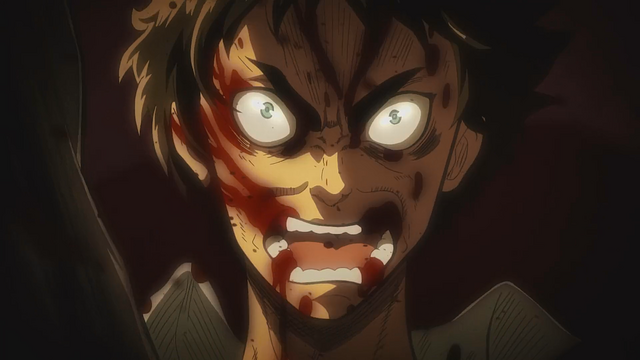 File:Eren about to transform into a Titan.png