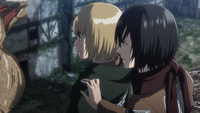 Mikasa notices Armin is being quiet