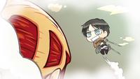 Eren dreams of fighting a Titan