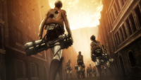 The soldiers return after Pixis' speech