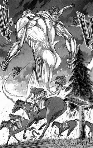 File:The Survey Corps chase the Armored Titan.png