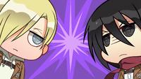 Mikasa confronts Annie