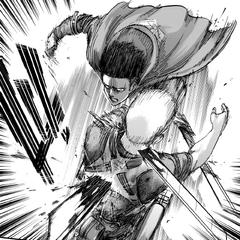 Леви пытается убить Райнера