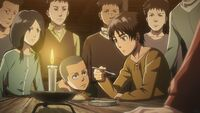 Eren talks with his friends