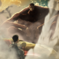 The Beast Titan defeats the Armored Titan