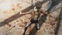 Eren controls his balance