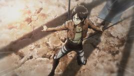 Eren controls his balance