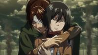 Hange empathizes with Mikasa
