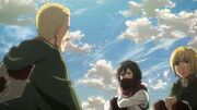 Hannes, Armin et Mikasa