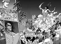The Attack Titan assaults Liberio