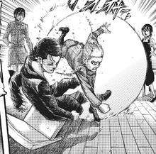 Armin punches Eren