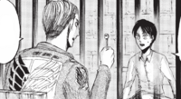 Erwin shows Eren his key