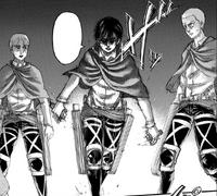 Mikasa prepares to confront Annie