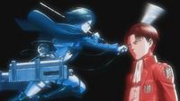 Mikasa and Levi
